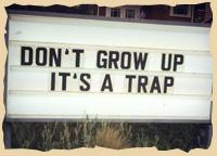 Don't grow up - It's a trap